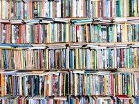 biblioteczka, półki pełne książek